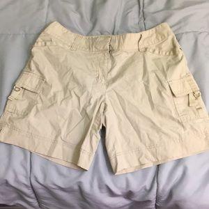 WHBM khaki shorts